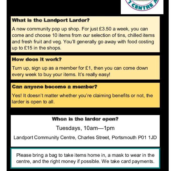 Landport Larder Scheme to launch on 20 April